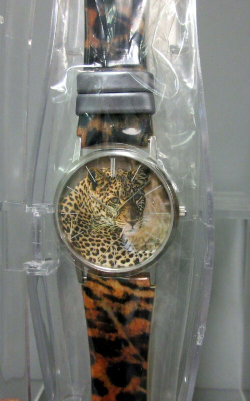 New Oui Art Jaguar Cheetah Watch Leopard Print Belt Citizen Japan Movement