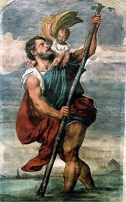 Saint Christopher POSTER 24 X 36 INCH Catholic, acts, saints