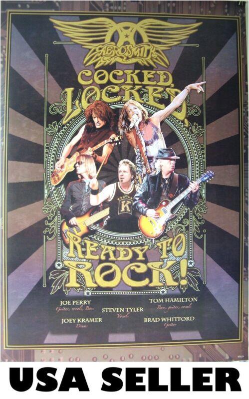 Aerosmith Cocked Locked Ready to Rock poster 23.5 x 34 Steven Tyler Joe Perry