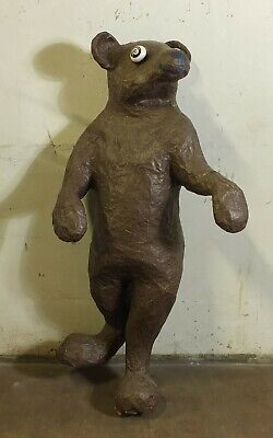 Bear Brown Bear Decorative Mannequin Figurine Doll Pappmach