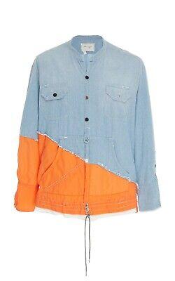 $1k Greg Lauren Birdwell Studio Shirt Denim Flannel Jacket