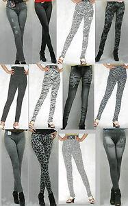 New-Spandex-Strecth-Skinny-Slim-Denim-Jeans-Look-Footless-Leggings-Tights