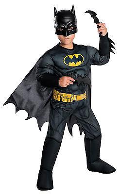 DC Comics - Batman Classic Black Child Muscle Costume (Batman Costume Kids)