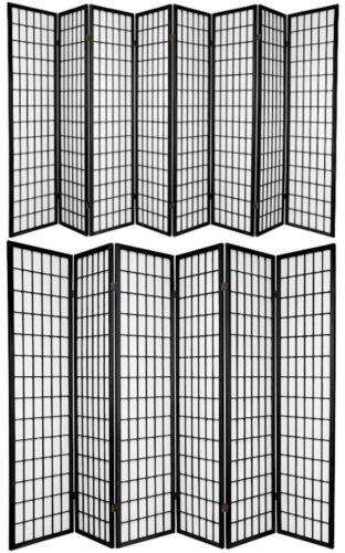 3,4,5,6,8, 10 Panel Japanese Oriental Style Shoji Screen Room Divider Black