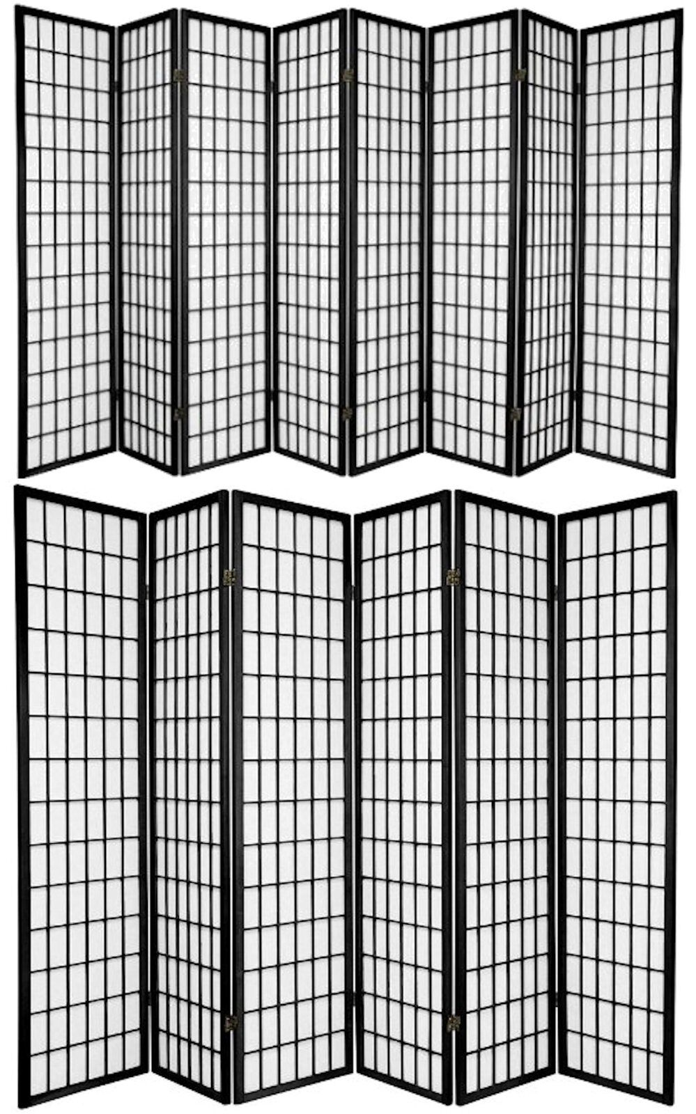 Купить Legacy Decor - 6 and 8 Panel Japanese-Oriental Style Shoji Screen Room Divider Black Color