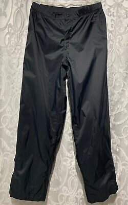 Womens COLUMBIA Storm Dry Pants BLACK Waterproof Breathable Nylon Lined Small S Columbia Waterproof Breathable Storm Pant