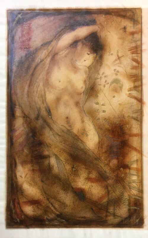 "Janet Treby ""freedom Within"" | Signed Canvas | Large 36 X 22"" | Coa | Gallart"