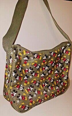1930s Handbags and Purses Fashion Disney Vintage Style 1930's Art Mickey Mouse Shoulder Bag Purse ~ Olive Green $19.77 AT vintagedancer.com
