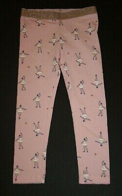 New Carter's Girls 3T Leggings Ballerina Glitter Gold Hearts on Pink