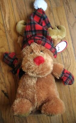 Holiday Plush Moose with tags is 17