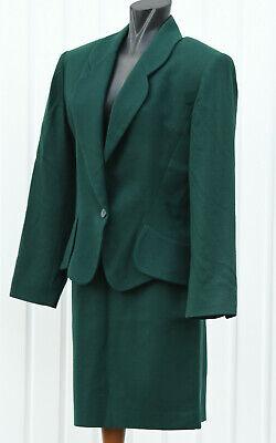 Vintage YSL YVES SAINT LAURENT KOSTÜM ROCK BLAZER D 38 British racing green - Saint Kostüm