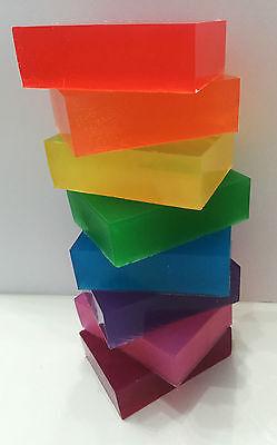Melt and Pour Soap Base Coloured Soap Making Bars Easy to make kids TRANSPARENT