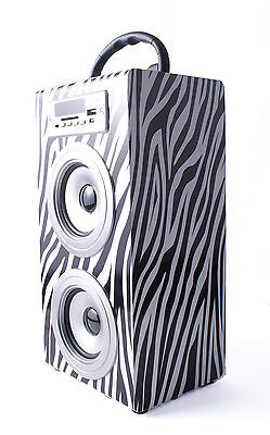 ALTAVOZ PORTATIL TORRE CAJA USB Radio FM Micro SD/TF MP3 Inalambrico Line...