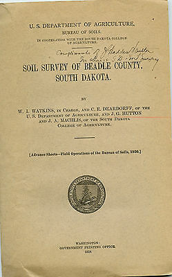 1924 Soil Survey Beadle County, South Dakota - Agriculture With Maps - $55.00