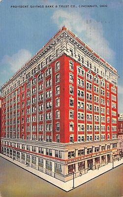 Cincinnati Ohio Provident Savings Bank   Trust Co 1940 Kraemer Art Linen Pc