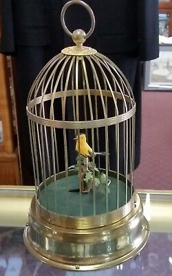 Vintage GERMAN Singing Bird Cage Music Box, Needs Repair, NOT W. GERMANY, Old!
