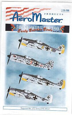 Focke Wulf Fw 190 part 2 decals 1/72 Aero Master 72198