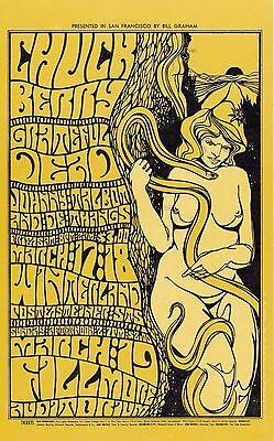 MINT Grateful Dead Chuck Berry 1967 BG 55 Fillmore Poster