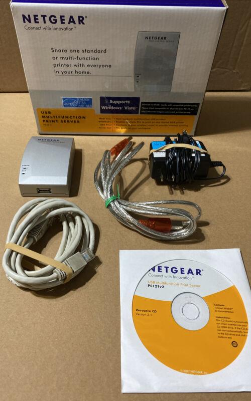 Netgear PS121 USB Mini Print Server w/ Adapter