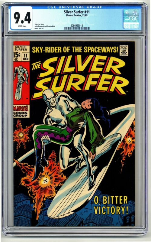 DSV5026. Silver Surfer #11 CGC 9.4 NM Marvel Comics (1969) Stan Lee Story