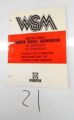Kubota Gv-3200-50-b Gv-3240-60-b Diesel Generator Workshop Manual 287