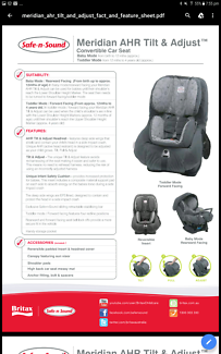 Safe n Sound- Meridan car seat (Birth-4 years)