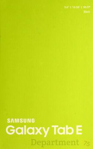"Samsung Galaxy Tab E 16GB Black 9.6"" ( SM-T560NU )"