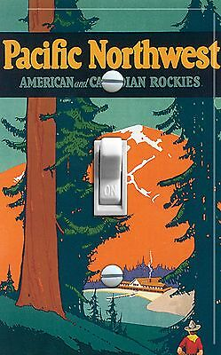 Northwest Switchplate - PACIFIC NORTHWEST Vintage Poster Switch Plate (single/double)***FREE SHIPPING***