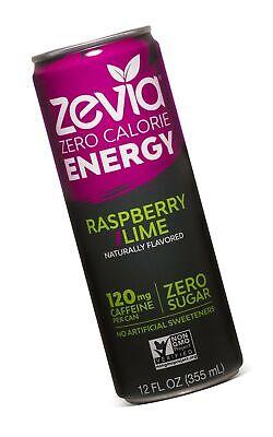 Raspberry Sweetener - Zevia Zero Calorie Energy Drink Naturally Sweetened Energy Drink, Raspberry L...