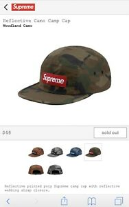 SUPREME CAMO REFLECTIVE BOX LOGO HAT