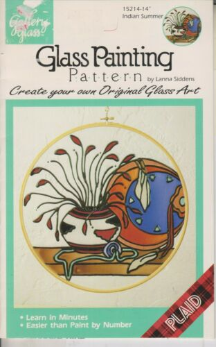 "Gallery Glass Glass Painting Pattern 15214 14"" Indian Summer (Staple Bound: Craf"