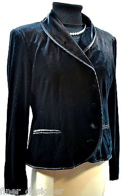 Together Velvet Jacket (TOGETHER Black VELVET dressy Blazer JACKET light coat Button WOMEN'S SIZE 4)
