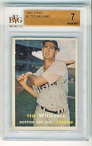 Ted-Williams-1957-Topps-Baseball-Card-1-BVG-Graded-7-Near-Mint-7263