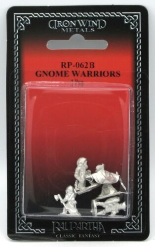 Ral Partha RP-062B Gnome Warriors (Fantasy Player Characters) Gnomes Adventurers