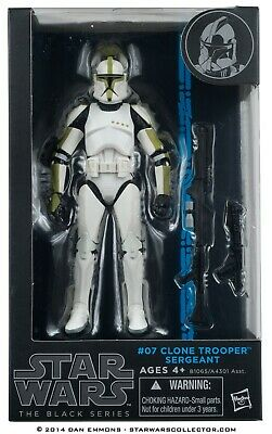 "Star Wars Black Series 6"" Inch #07 Clone Trooper Sergeant Figure NIB SEALED"