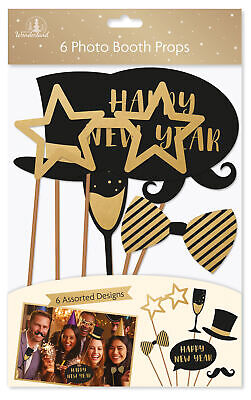 Fun Christmas Party Themes (Christmas 6 New Year Photo Props - Xmas Theme or New Years Party Great)