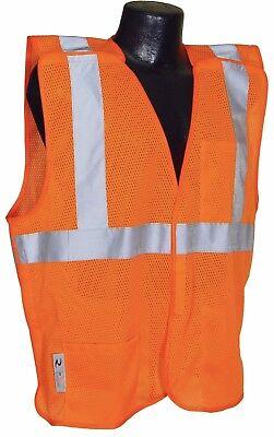 Radians SV4OM5X Economy Class 2 Breakaway Mesh Safety Vests - Orange 5X Large