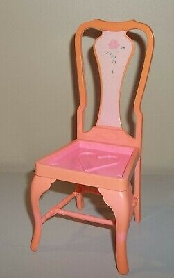 Barbie Doll Furniture - Sweet Roses Dining Room Chair - 1984 Mattel