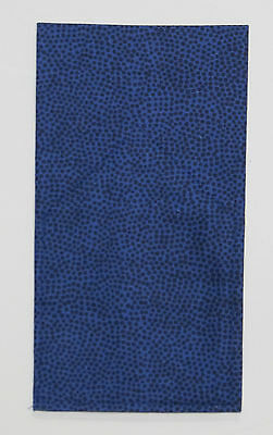 POCKET SQUARE Blue Random Dot Flat Top -Pre-folded & Sewn to just slip in pocket