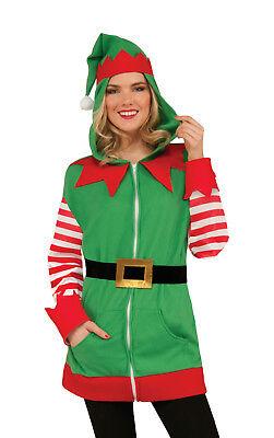 North Pole Christmas Elf Hoodie Santa's Helper Jacket Unisex Adult Size (North Pole Elf Kostüm)
