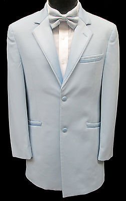 Light Carolina Sky Blue Tuxedo Jacket Retro Prom Halloween Cosplay Disco Vintage (Halloween Sky)