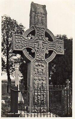 GREAT CROSS MONASTERBOICE CO LOUTH IRELAND SIGNAL SERIES RP IRISH POSTCARD