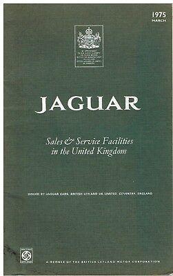 JAGUAR E TYPE V12 CABRIO 2+2 XJ6 XJ12 SAL COUPE ORIG '75 SALES & SERVICE BOOKLET