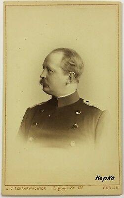 Generalleutnant von Hepke - Preußen Militär - Portrait CDV Foto CAB Photo W-3200