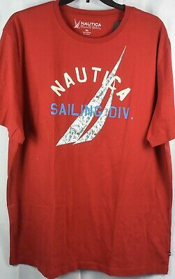 NAUTICA Men's Blue Sail Graphic Red Short Sleeve T-Shirt NEW NWT. 3XL
