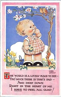 POSTCARD  CHILDREN   MABEL  LUCIE  ATTWELL  The  World  is  a  Lovely  Place