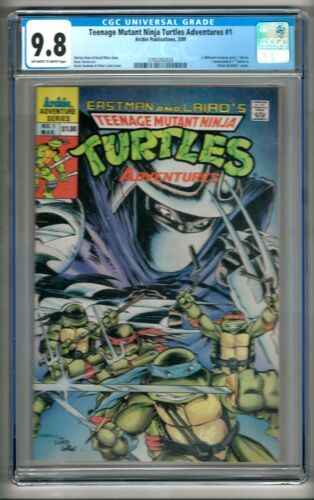 Teenage Mutant Ninja Turtles Adventures #1 (1989) CGC 9.8  OW/W Pgs. Marx - Wise