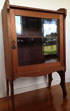 1920s oak music cabinet with glazed door - good condition Newcastle Newcastle Area Preview