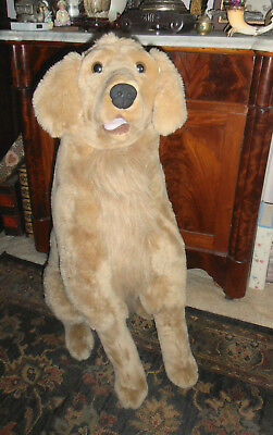 MELISSA DOUG GRANT GOLDEN RETRIVER LIFELIKE DOG  ALMOST 3 FEET HIGH