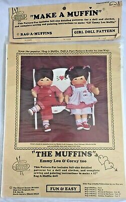 1978 Vintage Soft Sculpture Doll Sewing Pattern Rag-a-Muffin Emmy Lou Toy 1905F